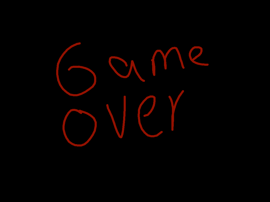 game over - drawing