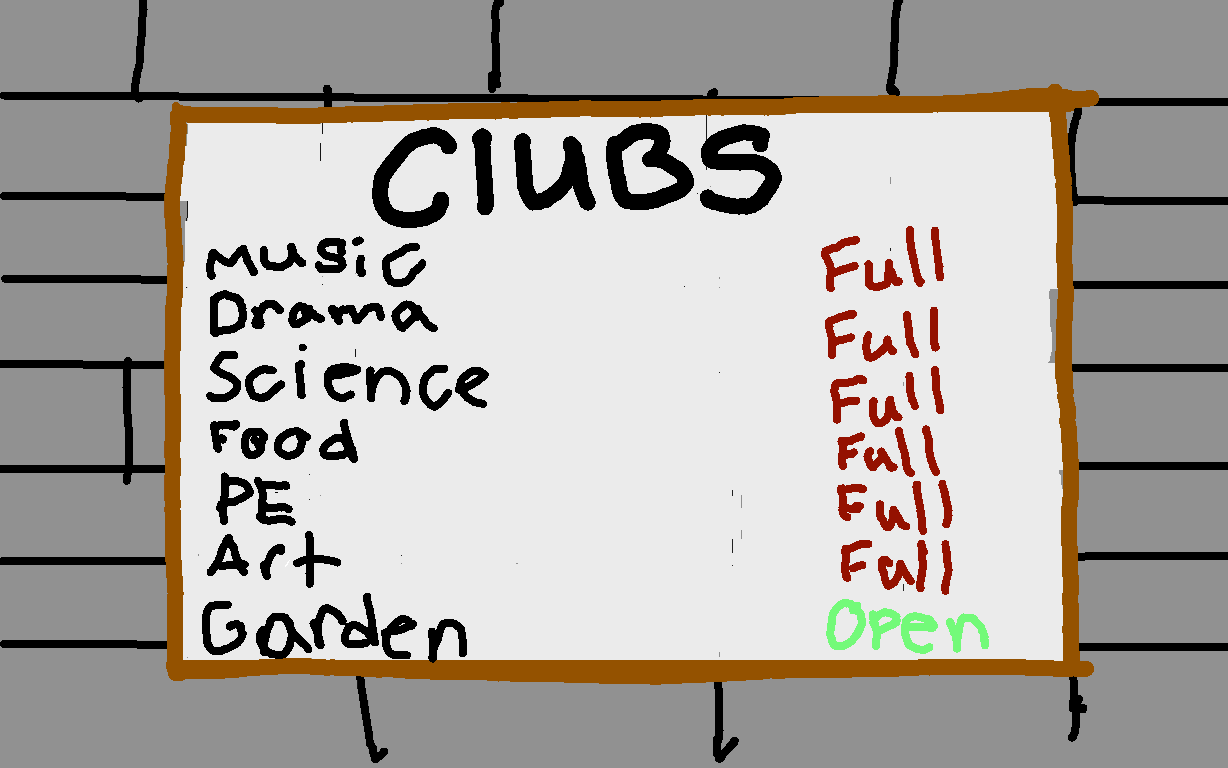 background scene - clubs board