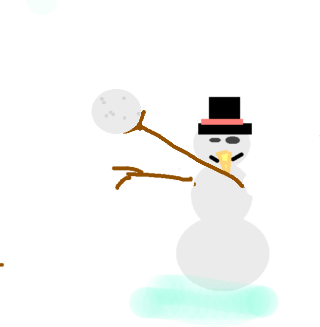 snow man - drawing copy copy1