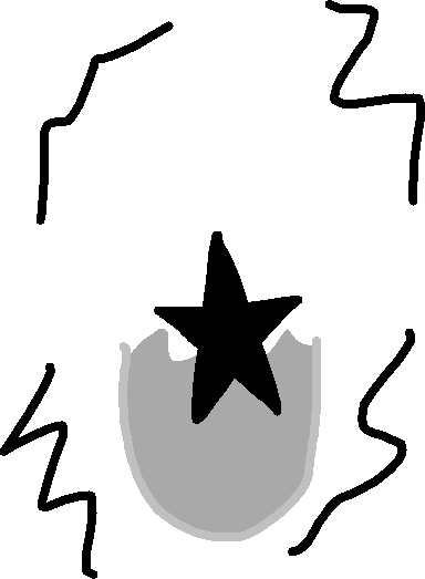 STAR EGG - drawing