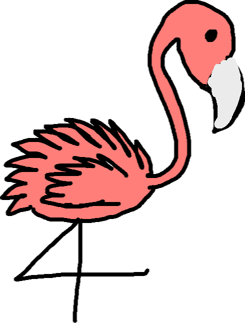 flamingo - drawing copy