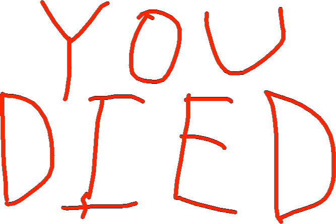 YOU DIED - drawing copy