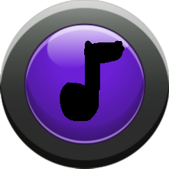 music button - purple button on