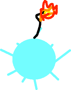 ice bomb - drawing