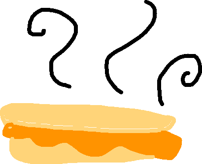 drawing - grilled cheese
