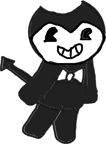 drawing - bendy happy