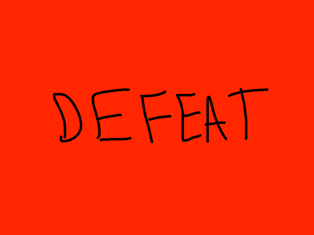 defeat - drawing