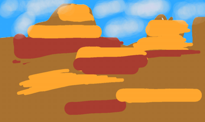 background scene - Canyon Valley