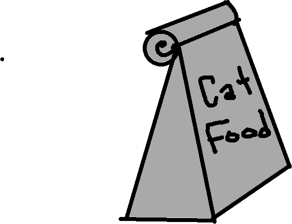 cat food - drawing