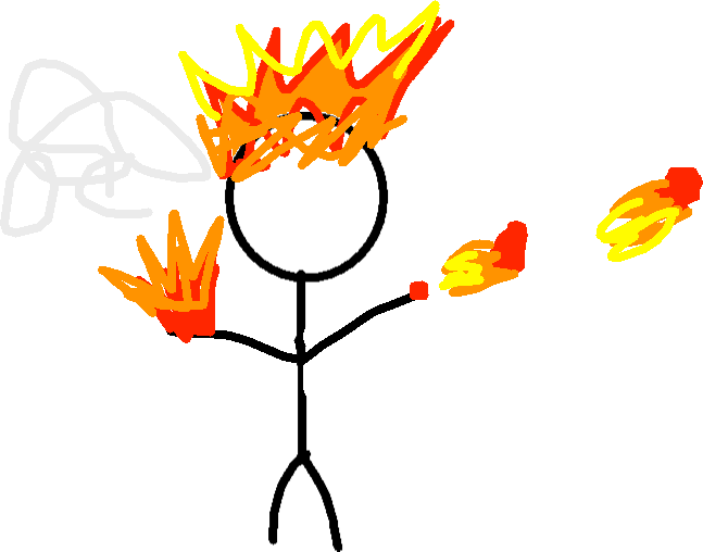 drawing - fire