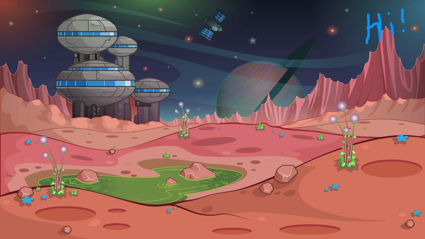 background scene - alien world