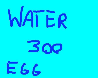 Water Egg - drawing