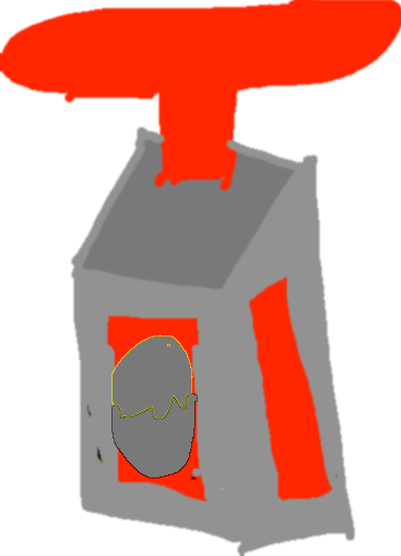 silver egg dispenser - drawing