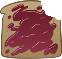 Finished Toast - Toast with Jam Bitten