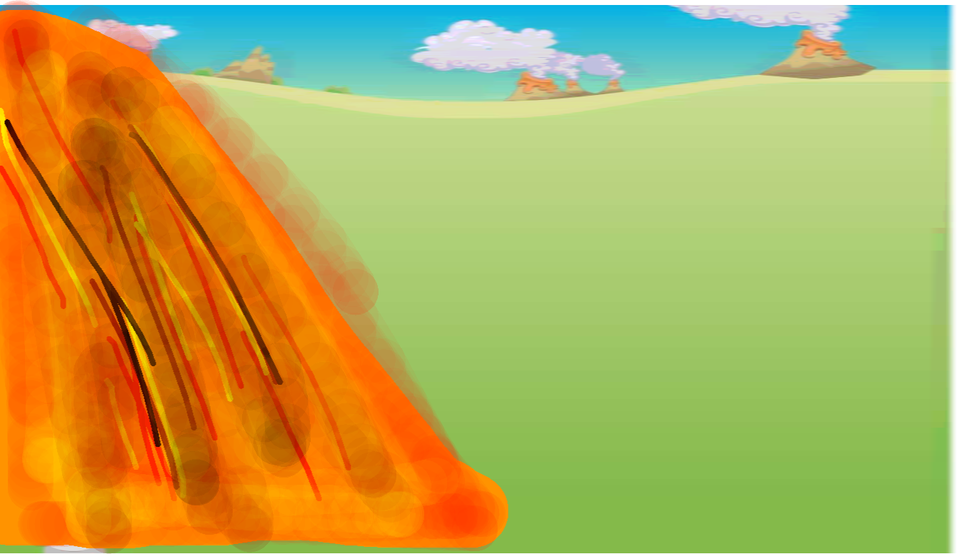 background scene - Volcano Meadow