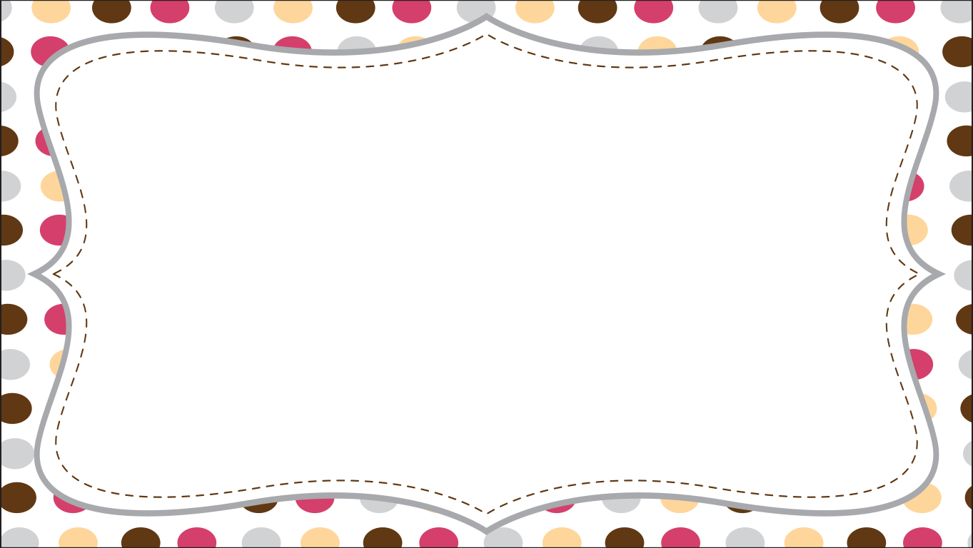 background scene - polka dot card
