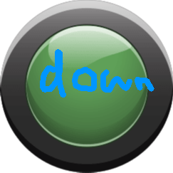 Down - Green Button Off