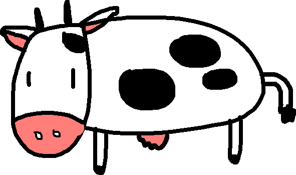 cow - drawing