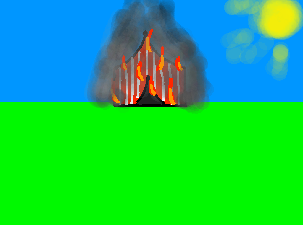 background scene - Burning Down