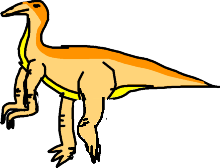 Gallimimus Kick - drawing copy copy