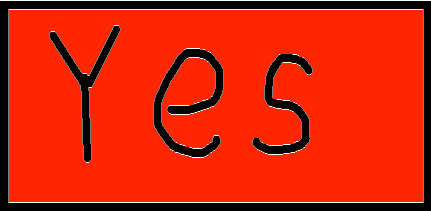 yes button - drawing