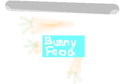 bunny food - drawing