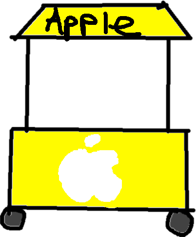 Apple shop - drawing