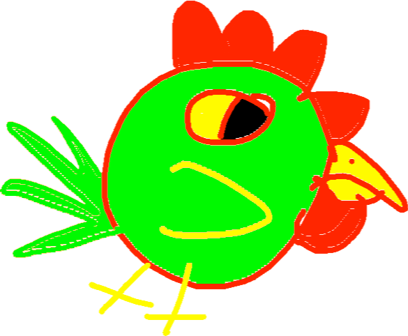 drawing - chick sick