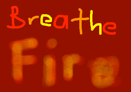 Breath Fire Button - drawing