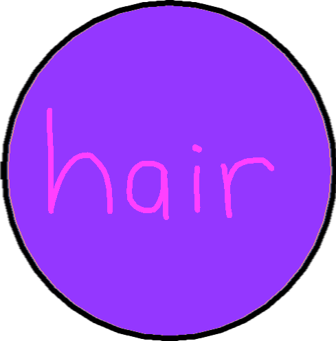 button 5 - hair button