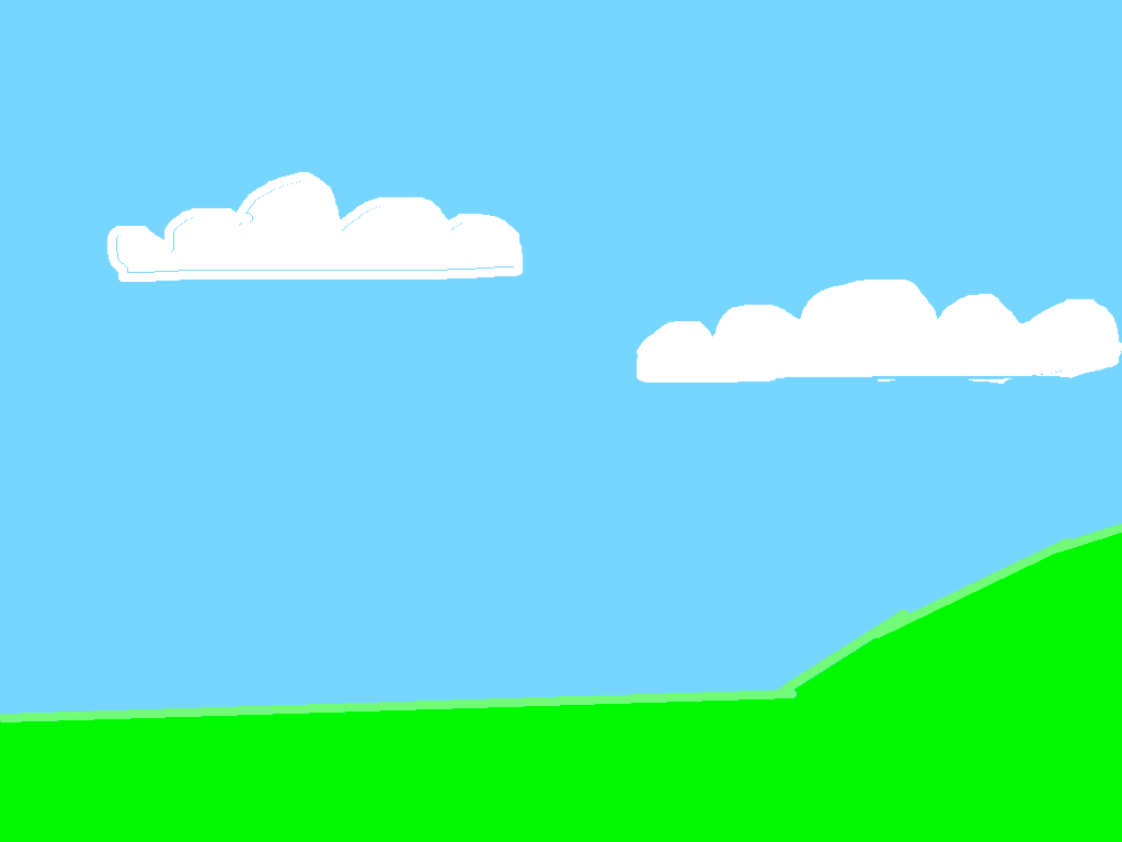 background scene - Sky with land