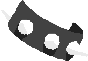 spiked wristband - drawing