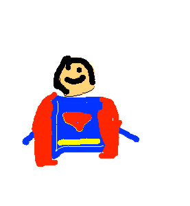 portrait Superman - drawing