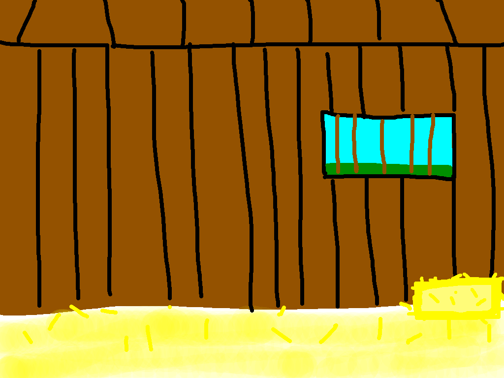background scene - cow pen