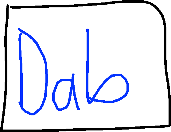 Dab Button - drawing