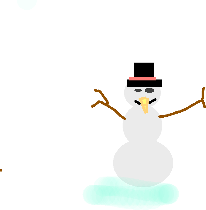 snow man - drawing