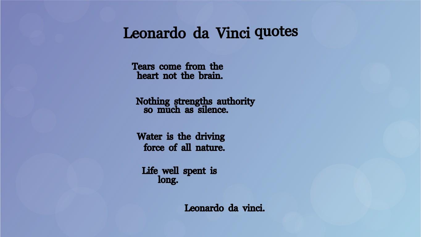 Leonardo Da Vinci Quotes Tynker