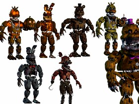 all the character in fnaf 4 1 | Tynker