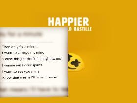 Lyrics of happier